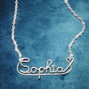 Name necklace made in wire